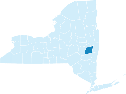 New York State Map With Counties And Cities.Counties The State Of New York