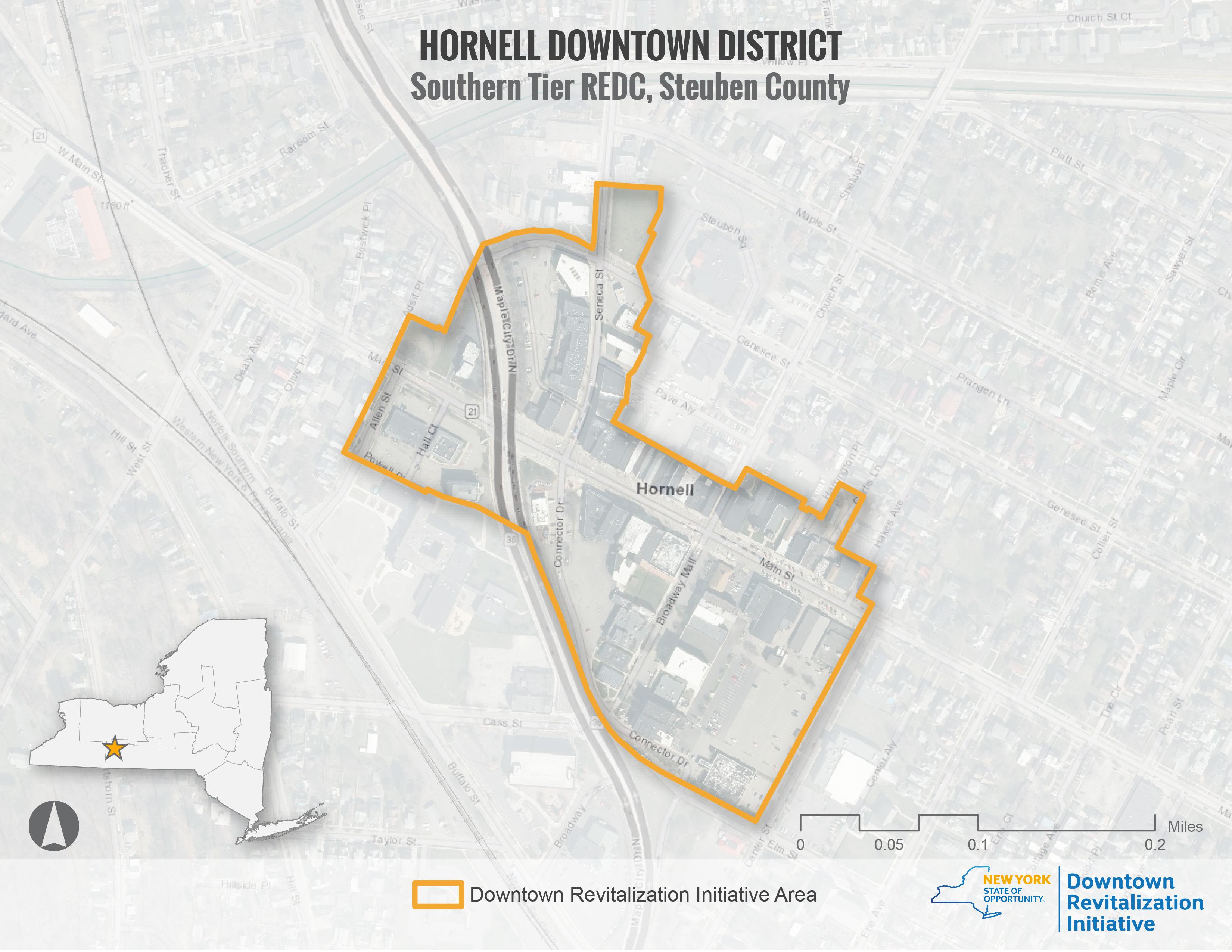 Hornell DRI Area Map