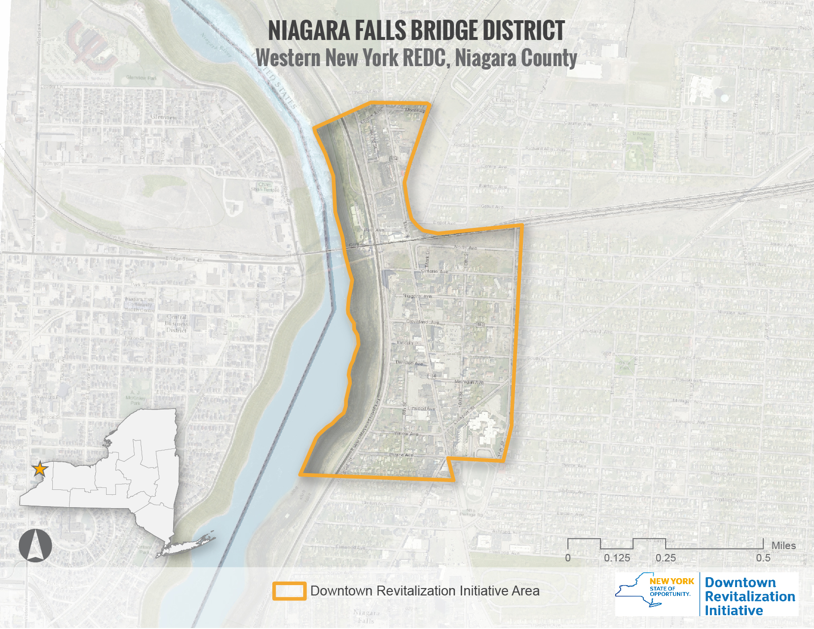 Niagara Falls DRI Area Map