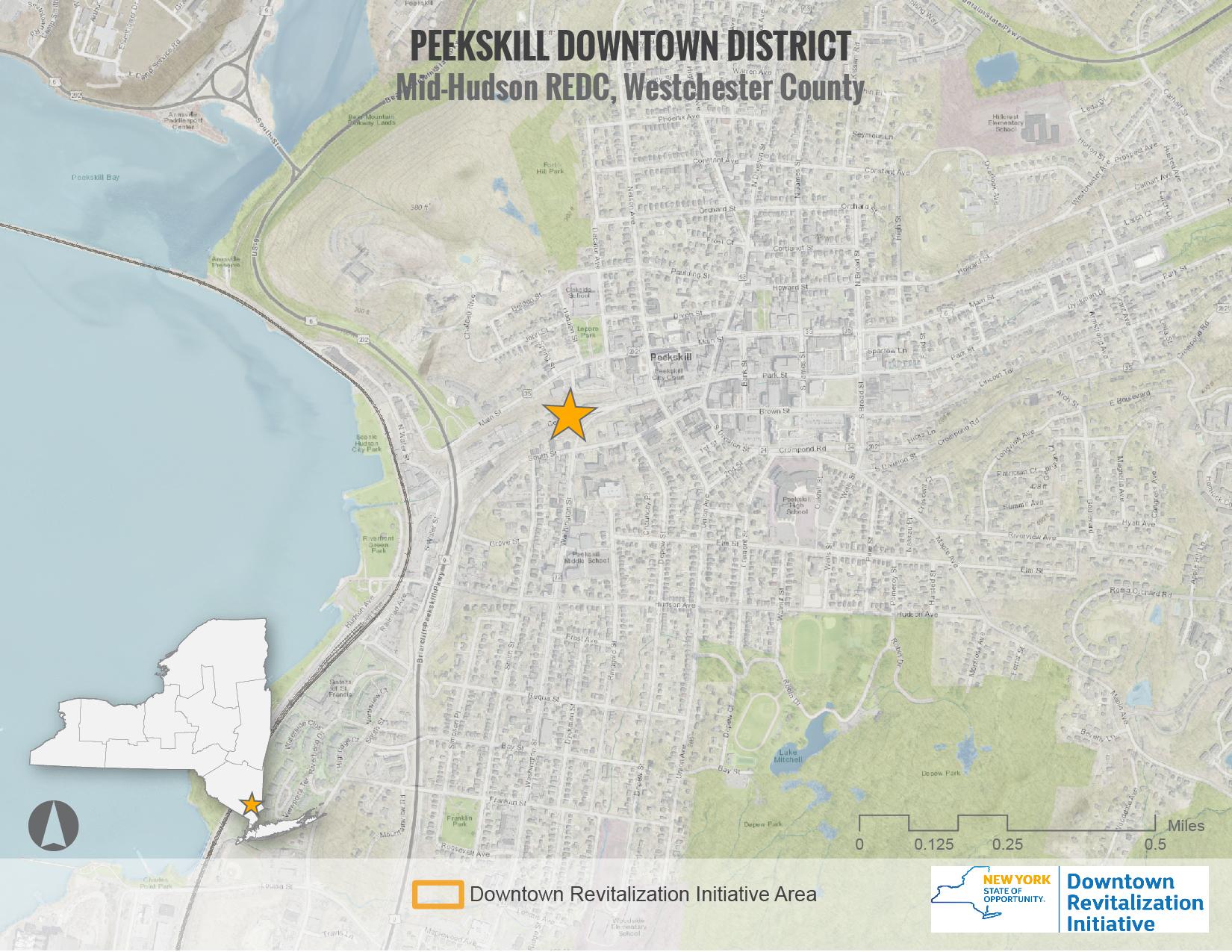 Peekskill DRI Area Map