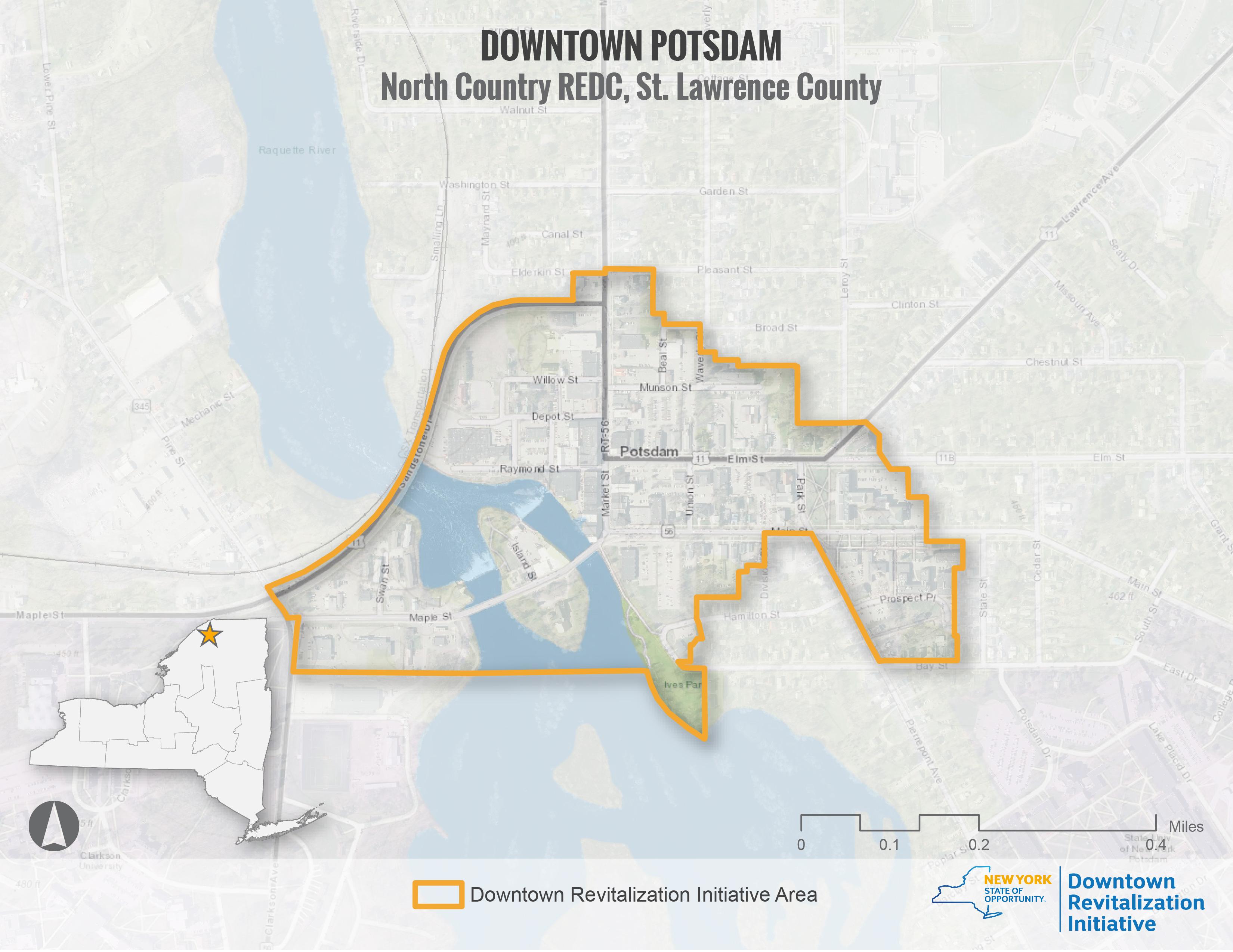 Potsdam DRI Area Map