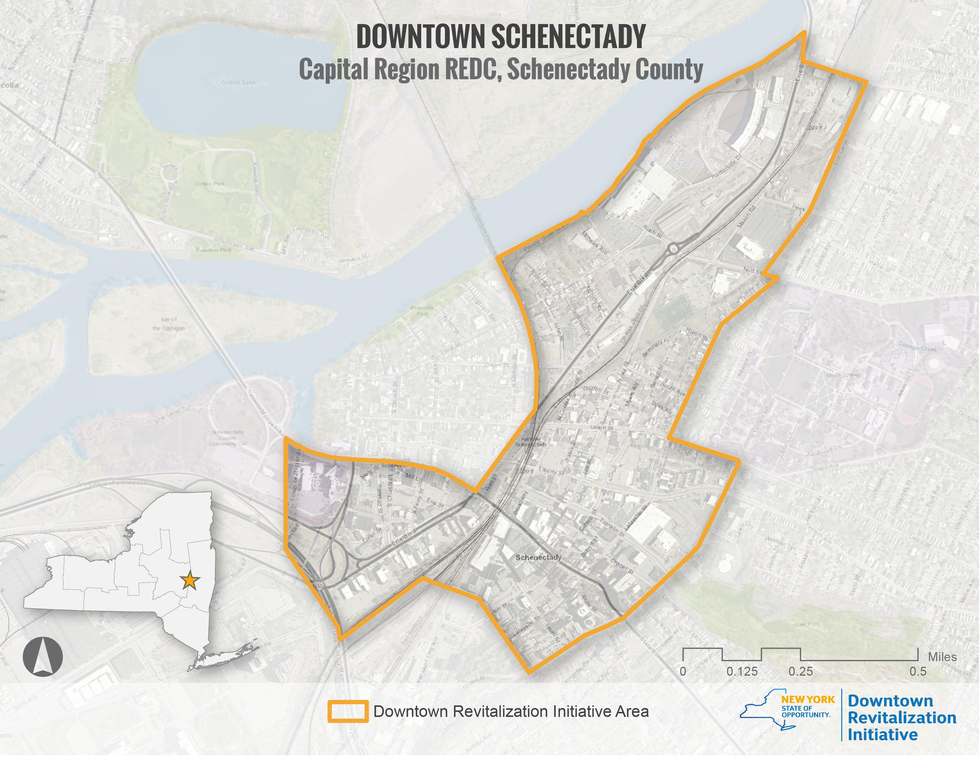 Schenectady DRI Area Map