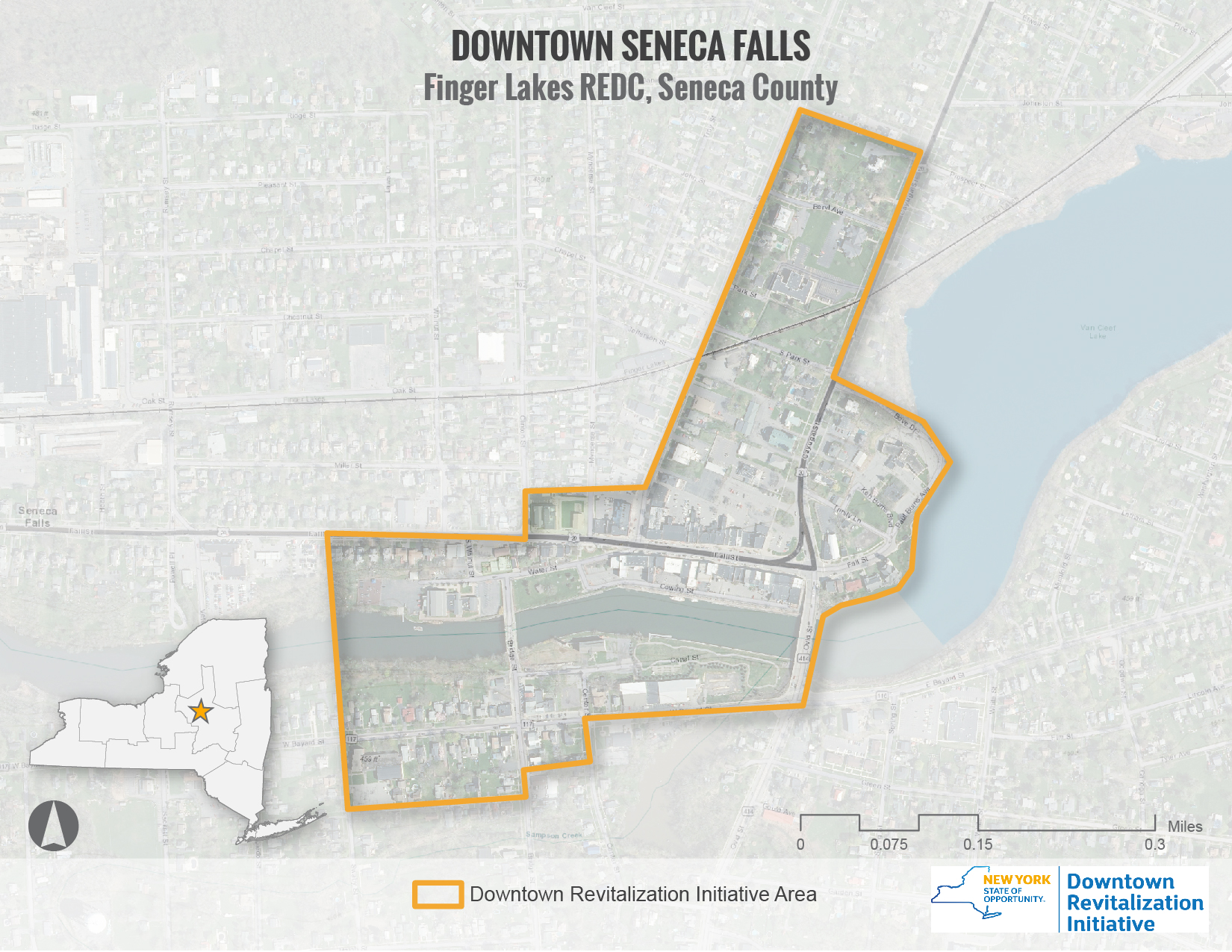 Seneca Falls DRI Area Map