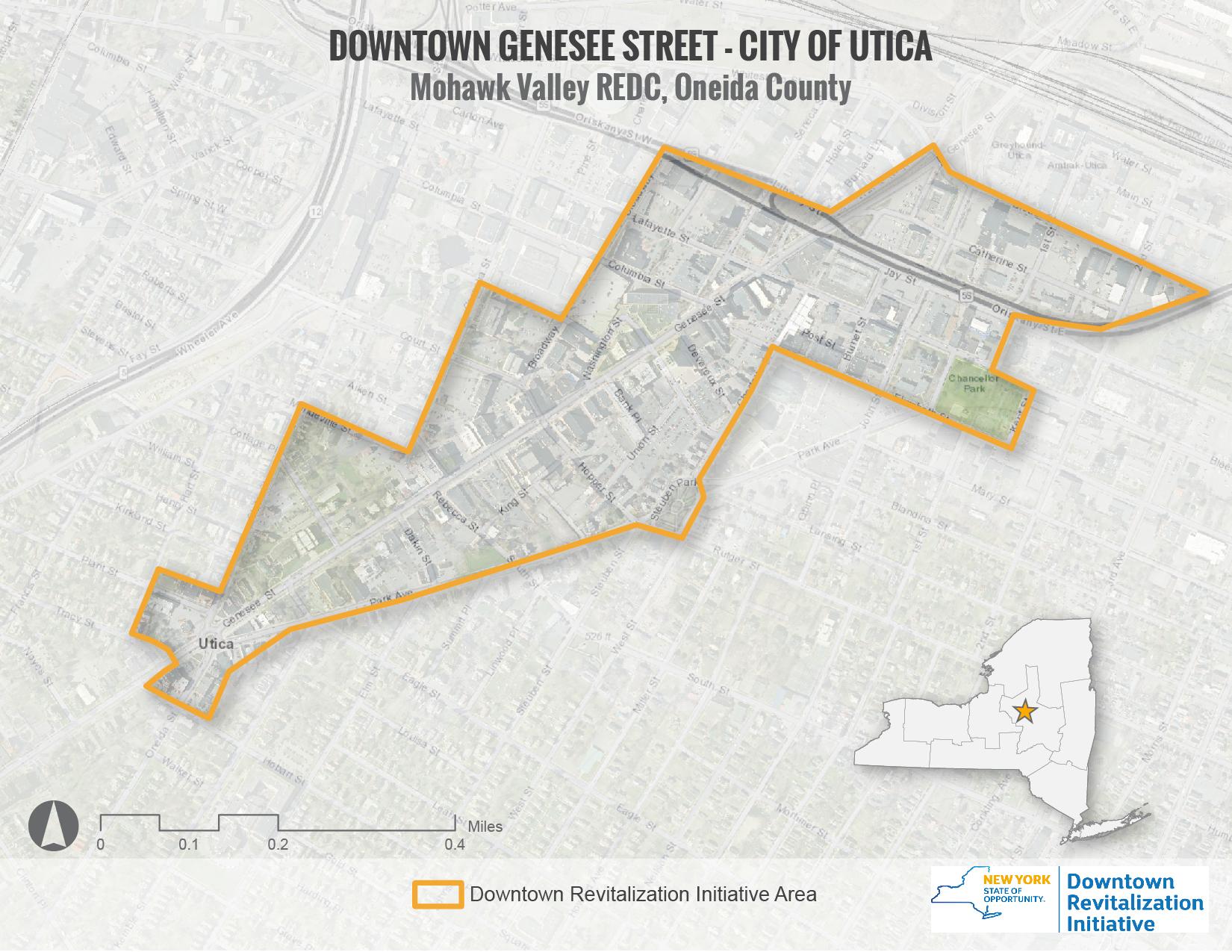 Utica DRI Area Map